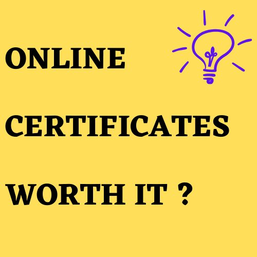 Is it worth investing  in online courses?