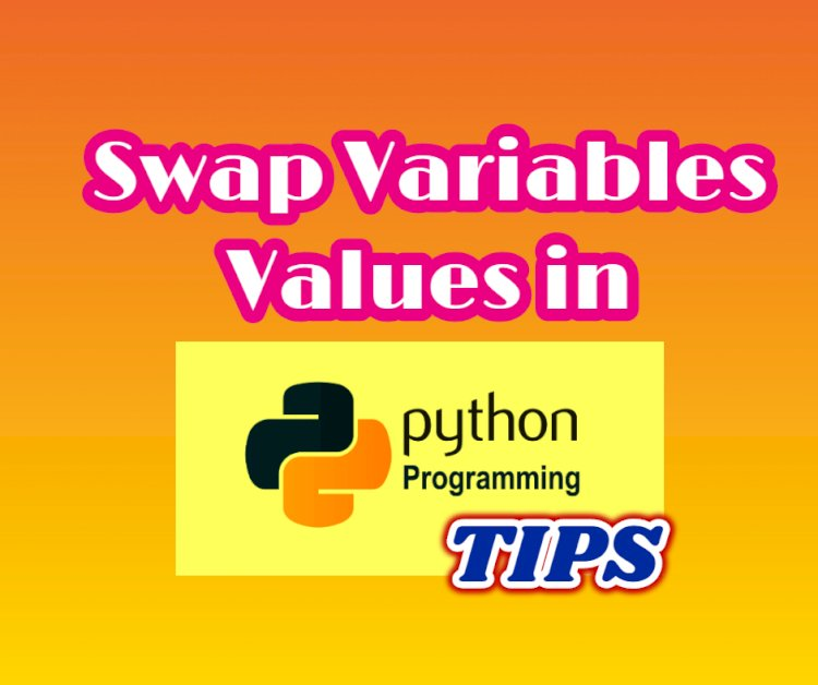 How to quickly swap Variables Values in python