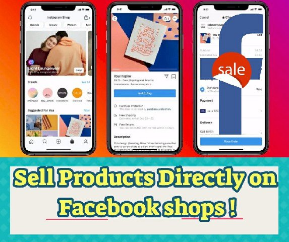 Sell Products Directly on Facebook shops !