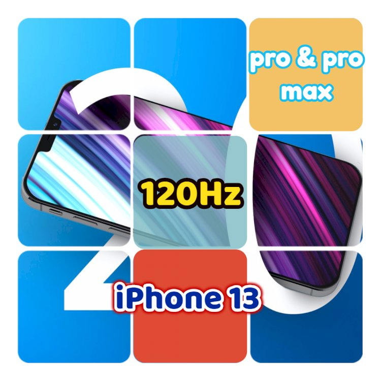 The iPhone 13 Pro series will support a high refresh rate of 120Hz